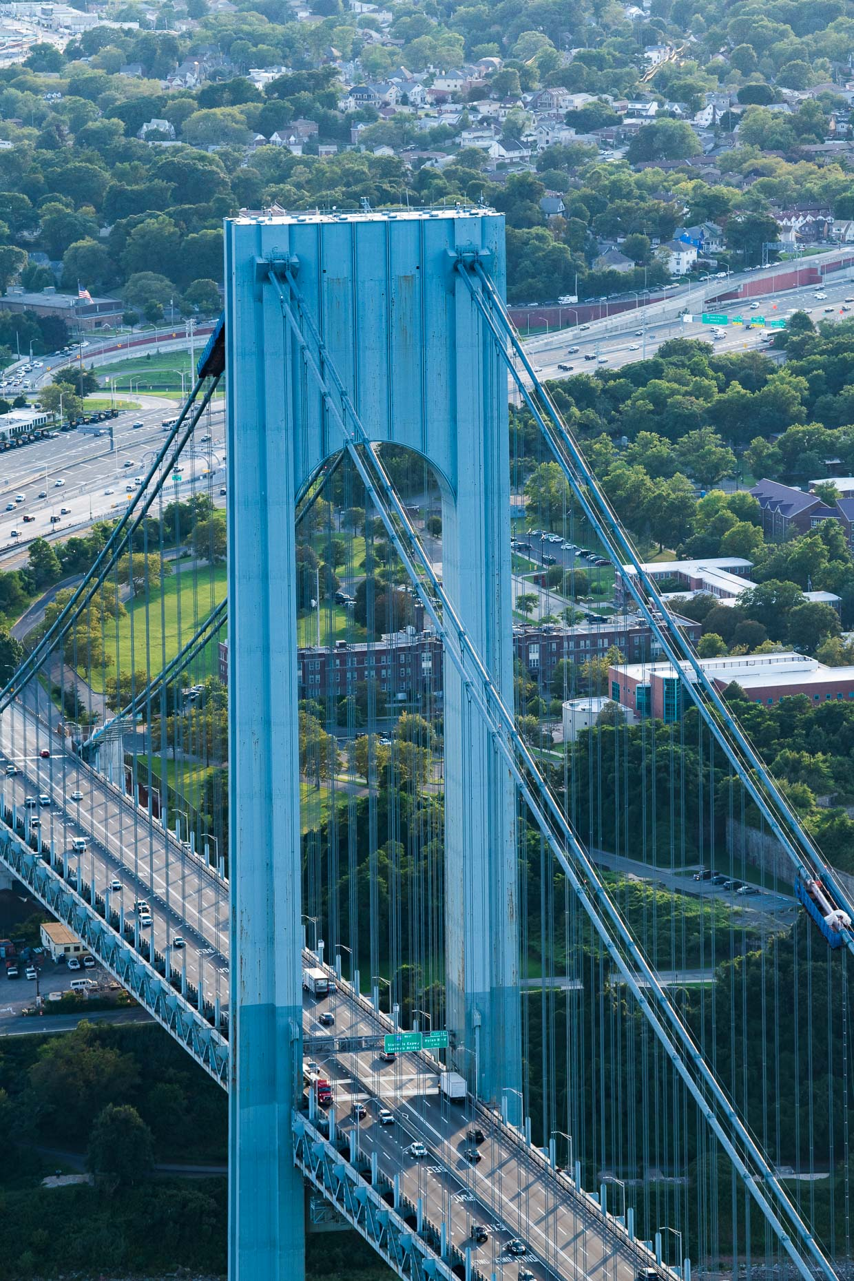 Helicopter views of Verrazzano Bridge