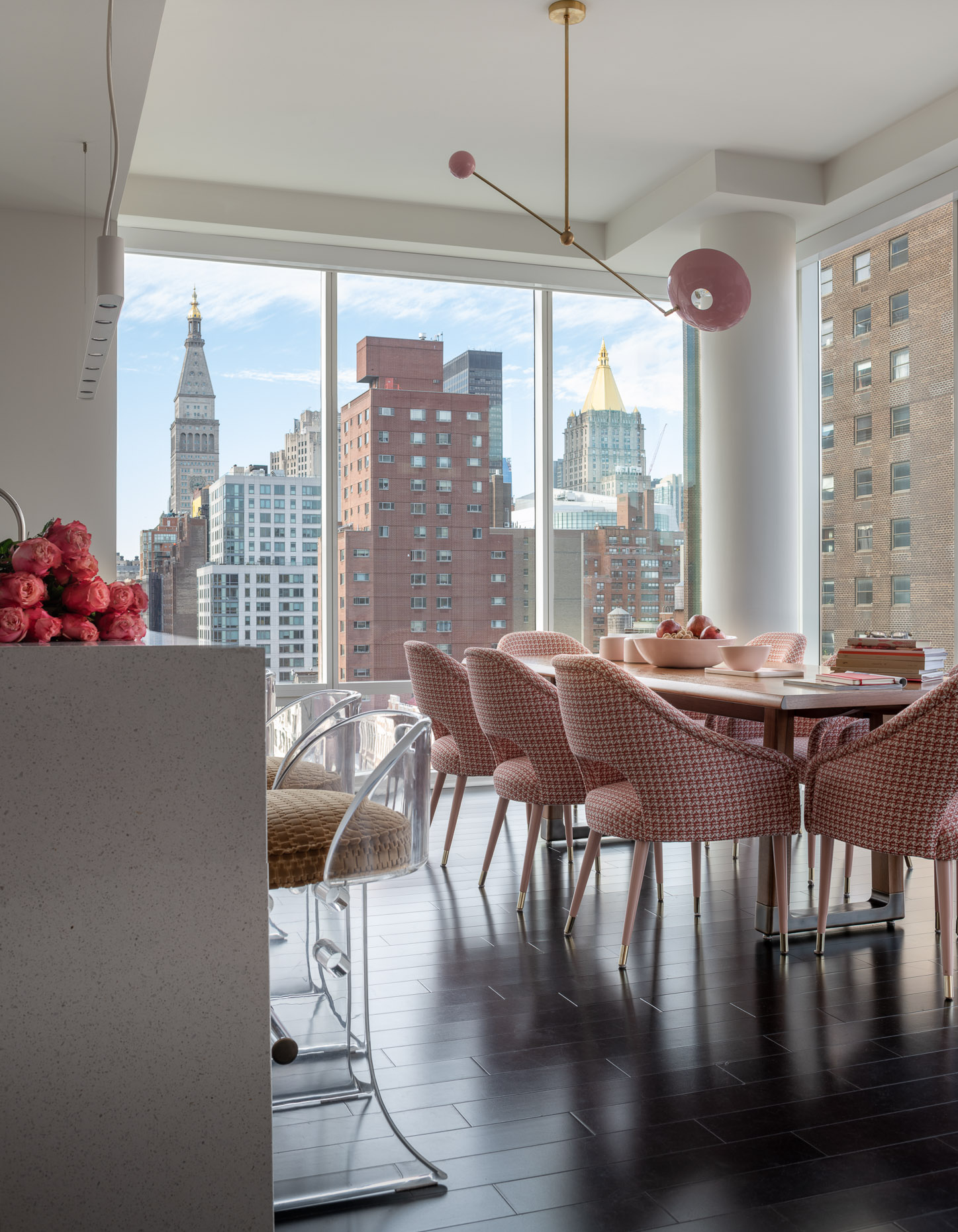Gramercy  apartment dining area with street views